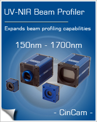 UV-NIR Beam Profiler CinCam